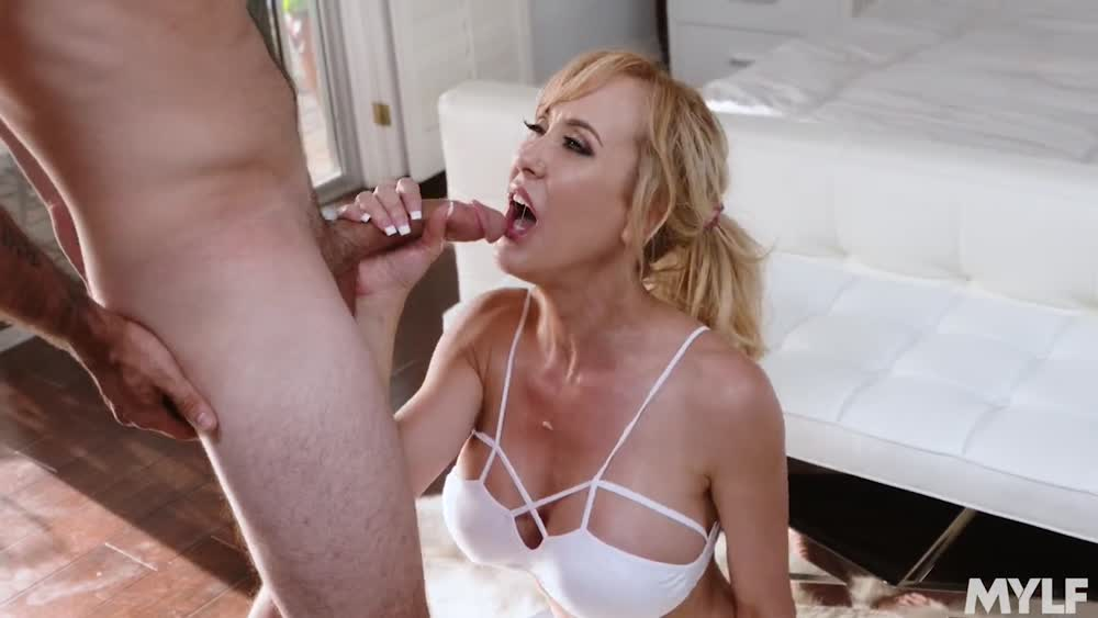 Brandi love kitchen blowjob cum in mouth