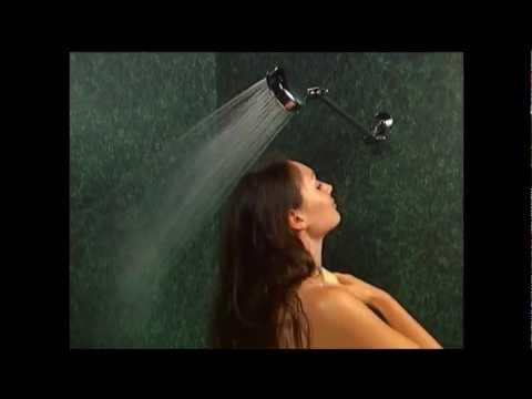 Nudist family shower