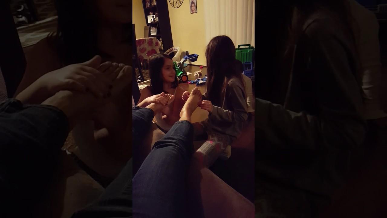 Girls rubbing on girls