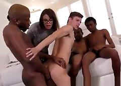 Amateur wife masturbates while watching husband fuck free