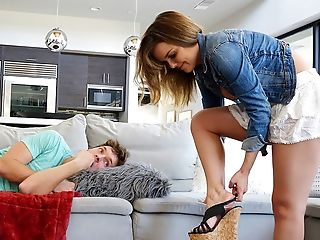 Worship your step sister perfect feet