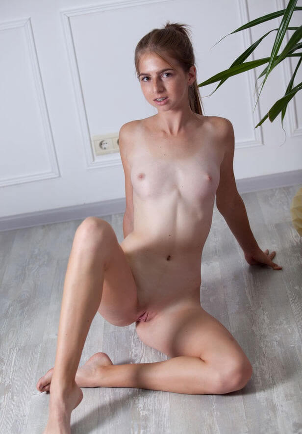 Blonde busty sex slave forced to fuck in rough spanking