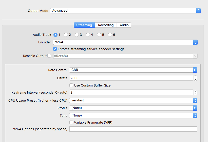 Best video settings for obs