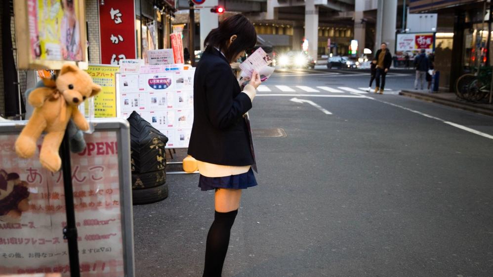 Japanese schoolgirls on the subway porn tube