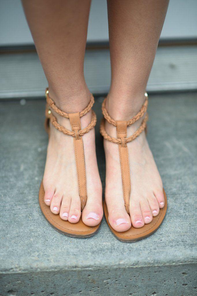Teen feet flip flops