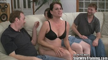 Soccer mom is a party slut for cum
