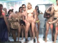 College sluts collect cum for contest porn