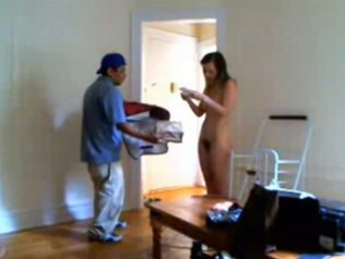 Nude pizza delivery videos