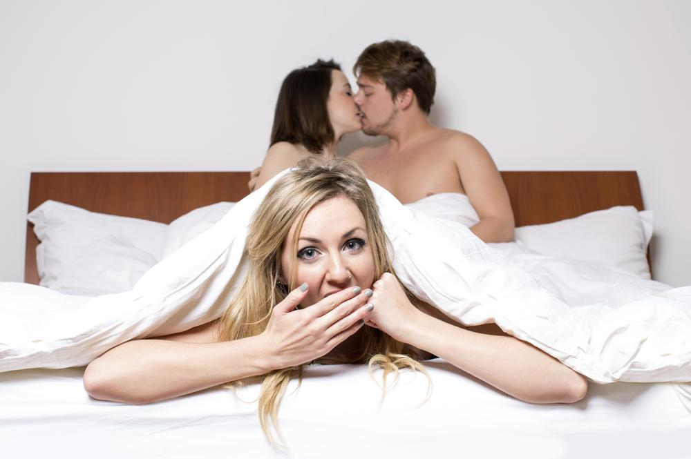 Girl forced to have a threesome with two guys