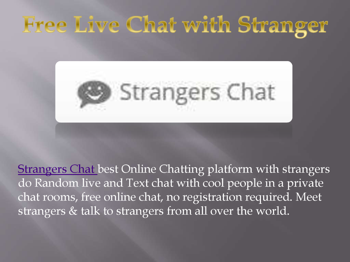 Text chat no registration